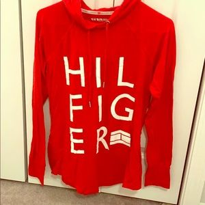 Tommy Hilfiger sport top with hood.